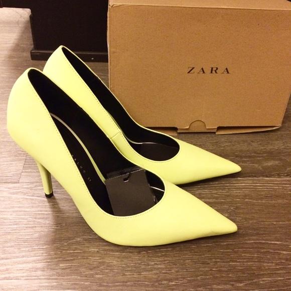 22cc6421ea5 Neon Yellow Pointed Toe High Heel Pumps